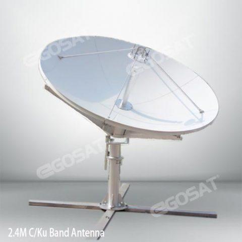 EGOSAT 2.4m c and ku band antenna