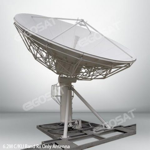 EGOSAT 6.2 m Rx only fixed antenna