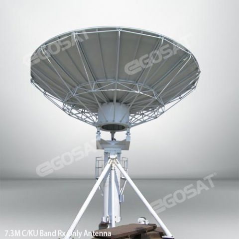 EGOSAT 7.3 m Rx only fixed antenna