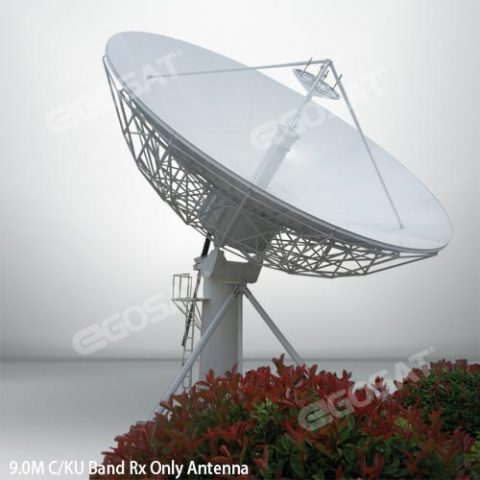 EGOSAT 9.0 m Rx only fixed antenna