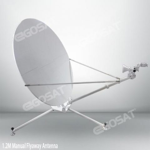 EGOSAT 1.2 meter manual flyaway antenna