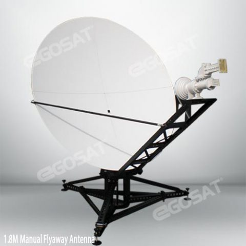 EGOSAT 1.8m manual flyaway antenna
