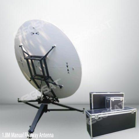 EGOSAT 1.8m manual flyaway antenna