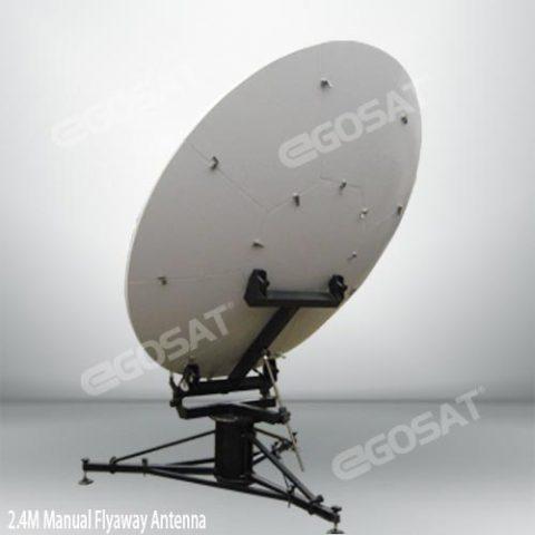 EGOSAT 2.4 m manual flyaway antenna