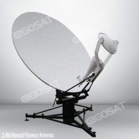 EGOSAT 2.4 m manual flyaway antenna