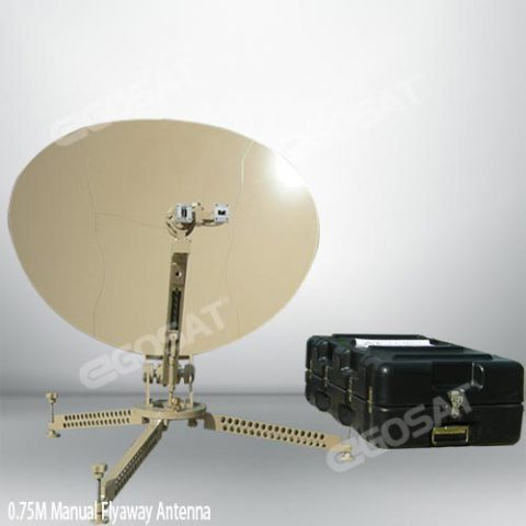 EGOSAT 0.75 m manual flyaway antenna