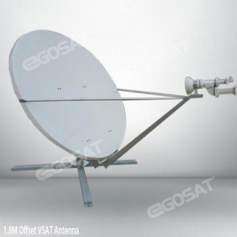 EGOSAT 1.8m offset c/ku-band vsat antenna