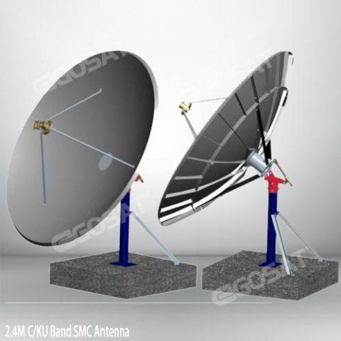 EGOSAT 2.4 meter SMC TVRO Ku band antenna